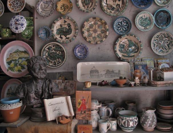 itinerari in toscana - vicopisano - ceramica